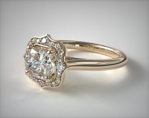 Engagement Rings Vintage 18k Yellow Gold Vintage Inspired