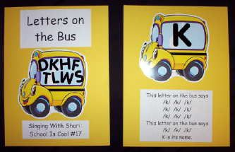 The letters on the bus go.... made a big bus and used magnetic letters- literacy small group
