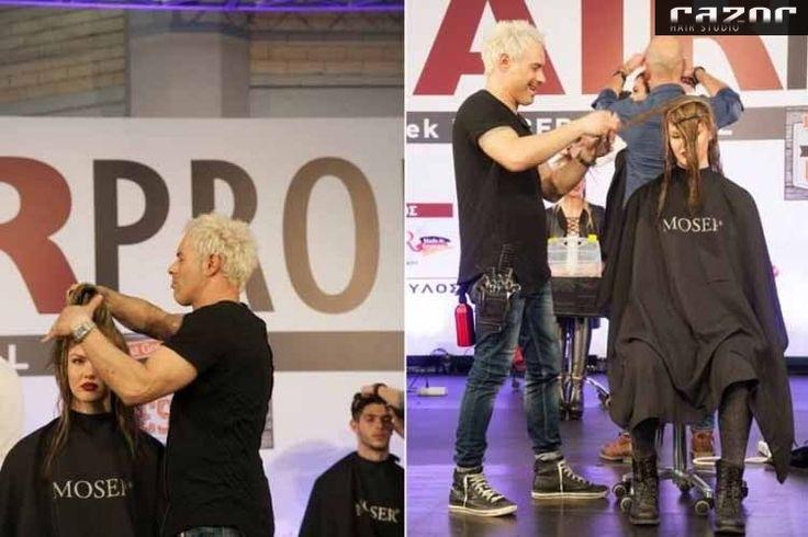 Κατέπληξε ο Λαρισαίος Hair-Artist Κωνσταντίνος Σταθάκος με το Show του Hair Show by Razor Team