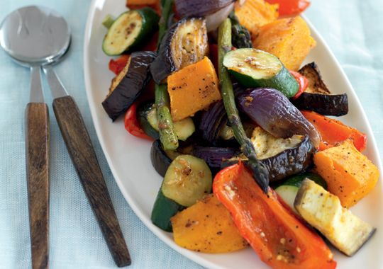 Moroccan Roast Vegetables with Lemon Pepper & Mint Dressing - a bit of prep and a lot of taste!