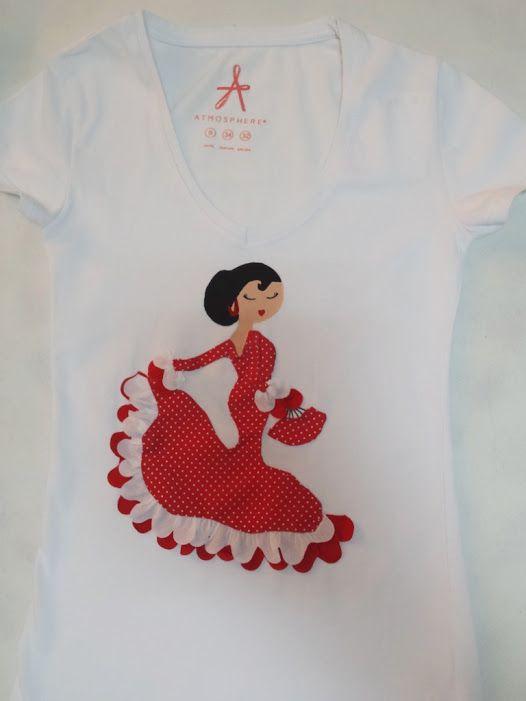 Camiseta Flamenca www.anamanitas.weebly.com www.anamanitas.blogspot.com