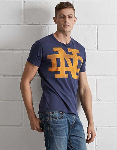 Tailgate Notre Dame T-Shirt, Blue | American Eagle Outfitters