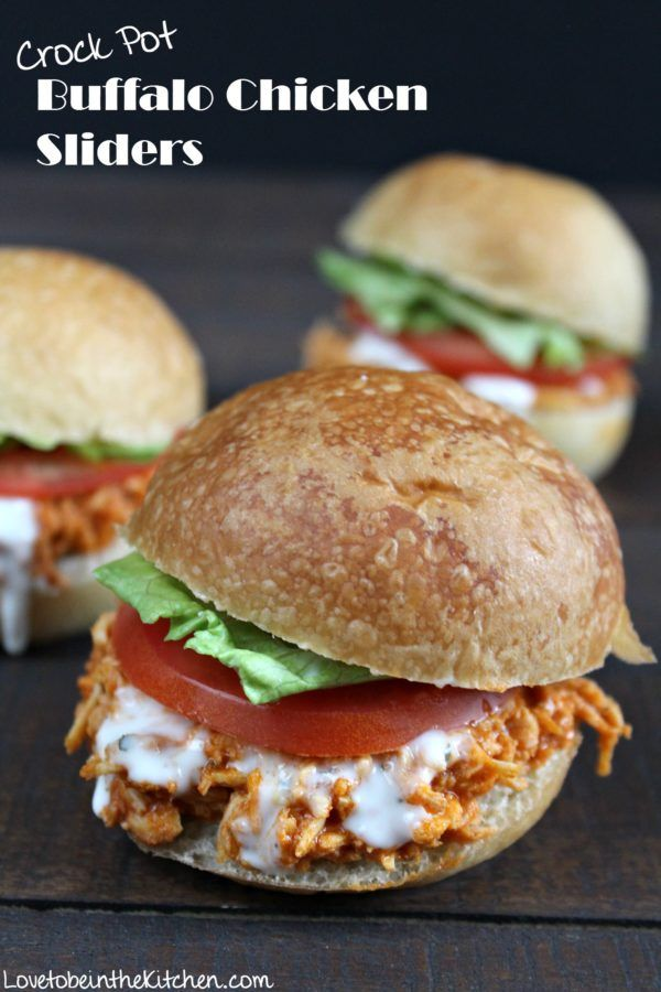 Crock Pot Buffalo Chicken Sliders- An easy and yummy appetizer or main dish!