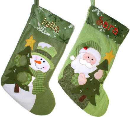 green designer stockings