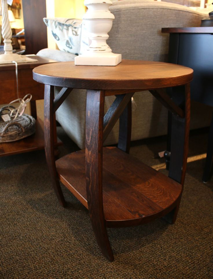 Elegant Whiskey Barrel End Table · Sofa ... Gallery
