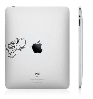 Yoshi apple sticker
