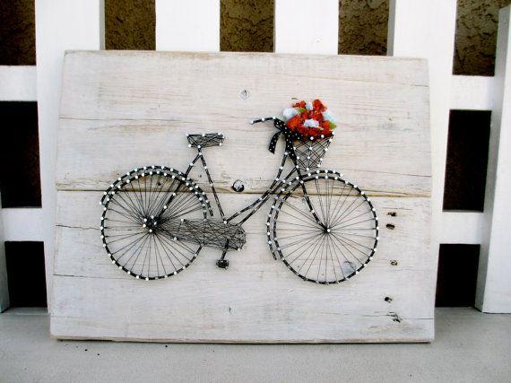 Vintage Bicycle String Art by CherishbyNT on Etsy