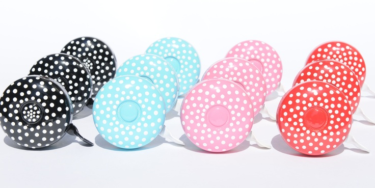 Beep Bicycle Bells Dottie Bells!  Hand painted fun fashion accessory.
