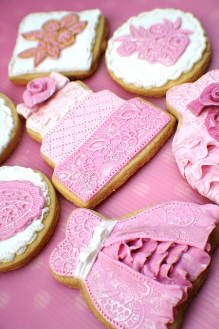 Indian Wedding Inspirations: PInk Wedding Cookies. Repinned by #indianweddingsmag IndianWeddingsMag.com