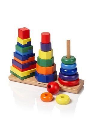 6% OFF Melissa & Doug Geometric Stacker