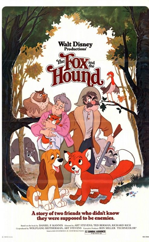 RED E TOBY, NEMICIAMICI (The Fox and the Hound) - film d'animazione Disney del1981, adattamento dal romanzo The Fox and the Hound di Daniel P. Mannix. È considerato il 24° classico Disney