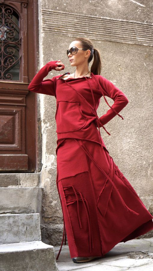 Etsy NEW Burgundy Cotton Maxi Skirt / Extravagant Long Skirt / Asymmetrical Unique Spring Maxi Skirt. Maxi skirt fashions. I'm an affiliate marketer. When you click on a link or buy from the retailer, I earn a commission.