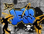 girls graffiti bedroom ideas design street
