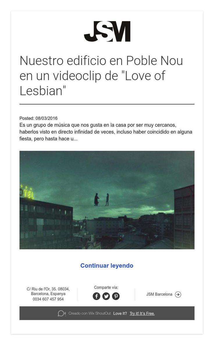 """Nuestro edificio en Poble Nou en un videoclip de """"Love of Lesbian"""""""