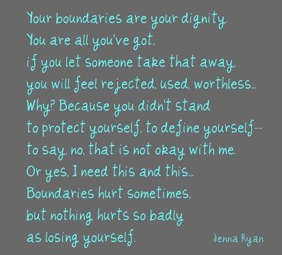Problems have to be solved and boundaries set...