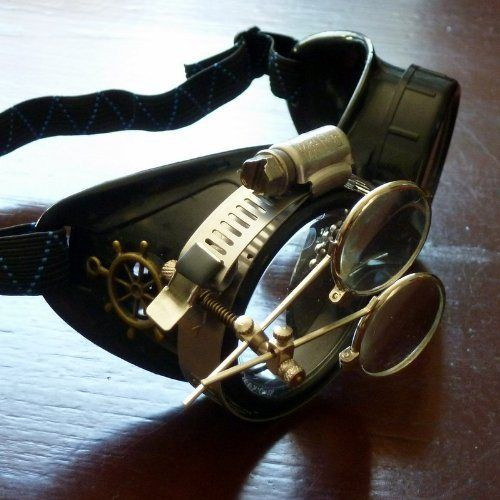 Steampunk Victorian Goggles welding Glasses diesel punk--rsw - [ Buy New: $495.00 - $597.95 ]  #Glasses, #Goggles, #Steampunk, #Victorian, #Welding