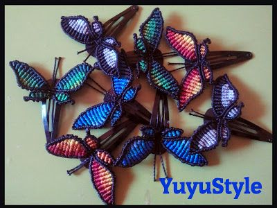 Yuyu _ Macrame and Style: Butterflies, butterflies and butterflies !!