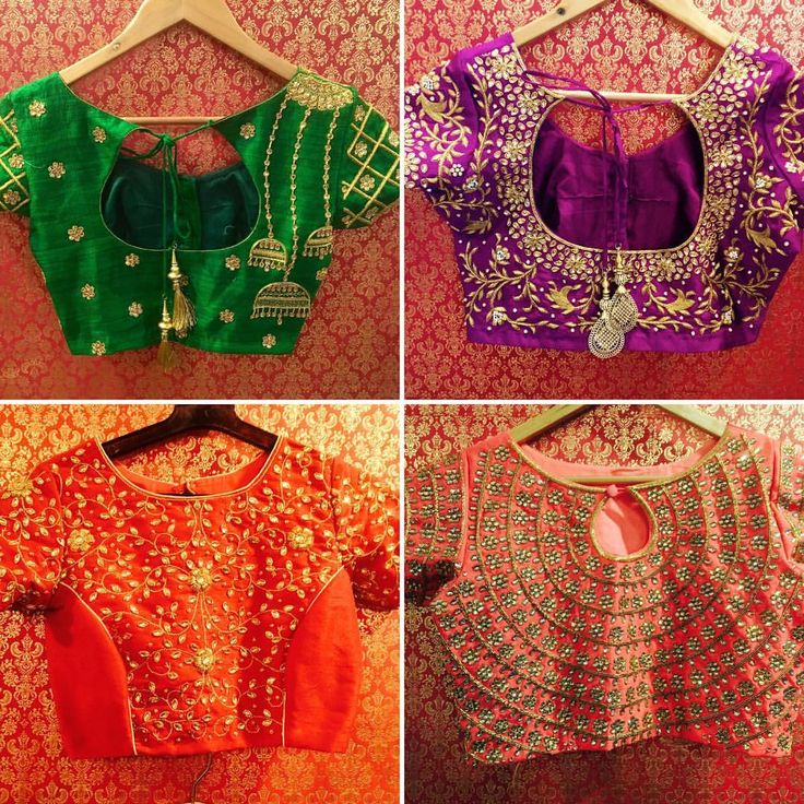 Bridal blouses for the happy clients detailing intricate indianwedding weddingblouse blousedesign weddingwear handembroidery classy 02 November 2016