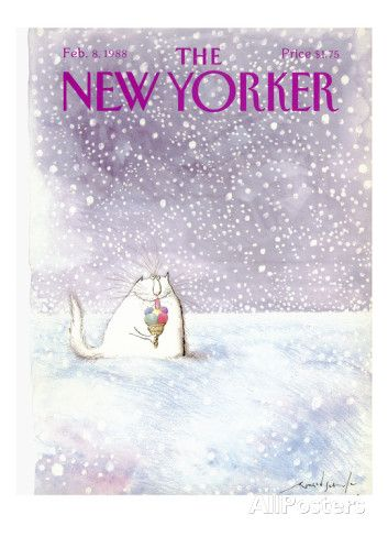 The New Yorker Cover - February 8, 1988 Regular Giclee Print par Ronald Searle sur AllPosters.fr