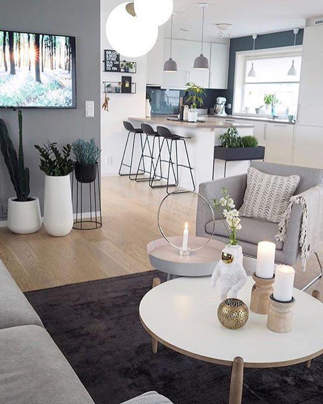 🚩 Abbinamento di colori, decorazioni e movili! Un open space chic ...