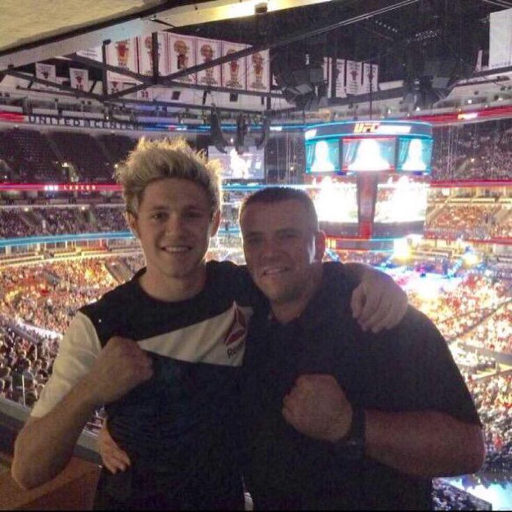 Niall and Mark at a UFC fight tonight July 25, 2015