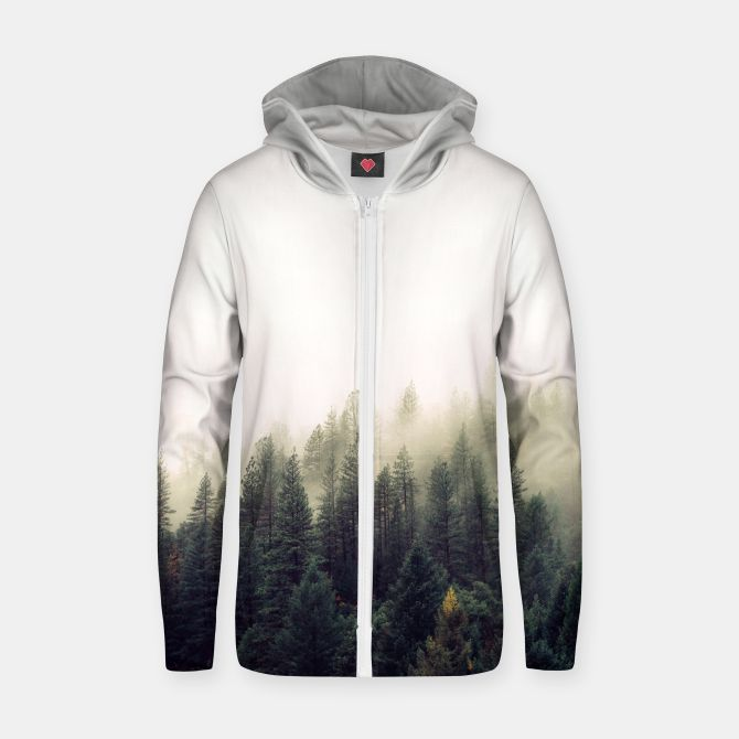 Mountain view Cotton zip up hoodie, Live Heroes