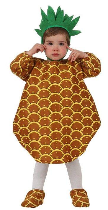 Disfraz de piña para bebé. Disponible en www.vegaoo.es