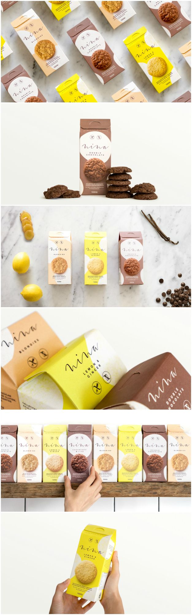 Visual Brand Identity and Design for Healthy Handmade Tasty Cookies  Design Agency:Asís Project name:Nina Location: Argentina Category: #Bakery #cookies   World Brand & Packaging Design Society