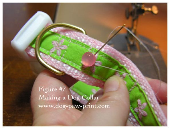 make a dog collar- tutorial with lots of pics - gift