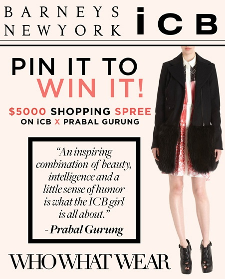@Barneys New York Pin It To Win It Contest