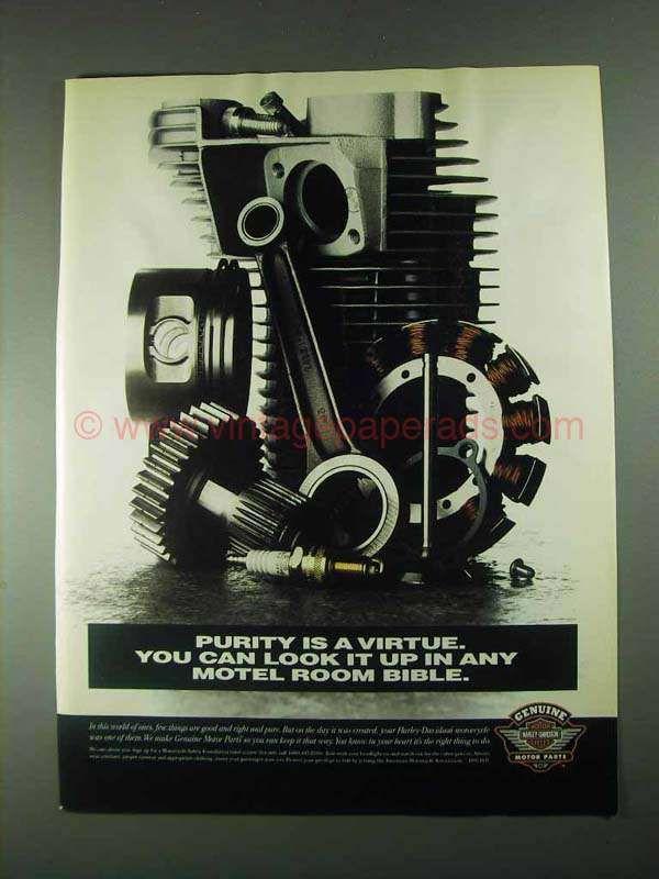 1996 Harley-Davidson Genuine Motor Parts Ad - Purity