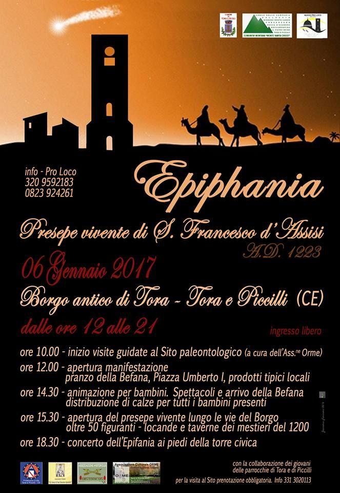 EPHIFANIA: PRESEPE VIVENTE DI S.FRANCESCO D'ASSISI A.D 1223 (06 Gennaio 2017)