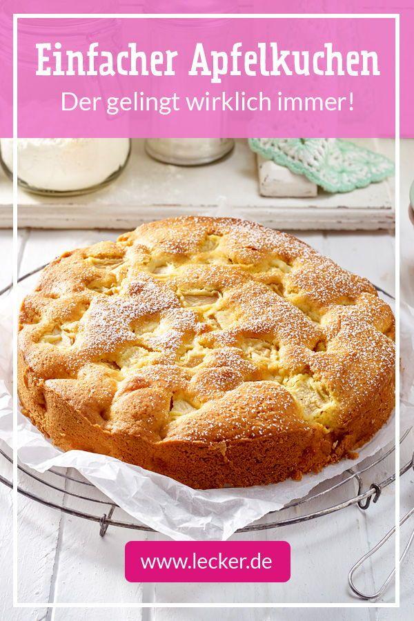 Unser einfacher #Apfelkuchen ist immer dabei! Zum Kaffeeklatsch mit lieber Fre …   – Apfelkuchen rezept lecker