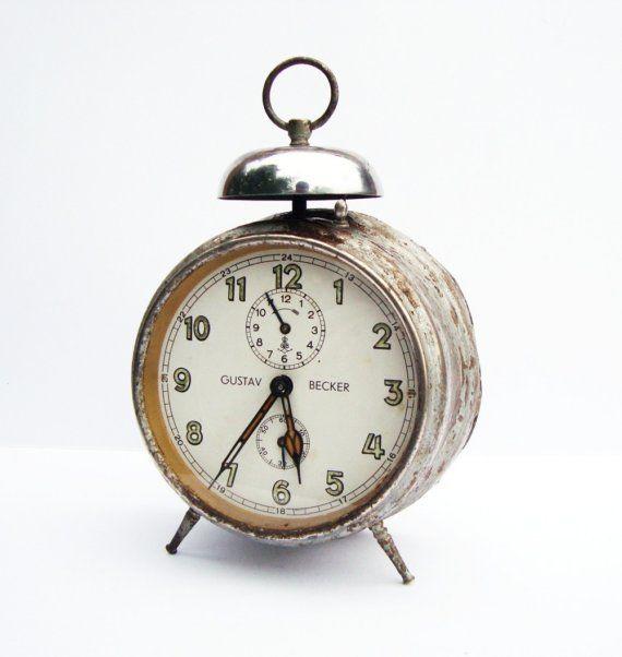 Antique German alarm clock