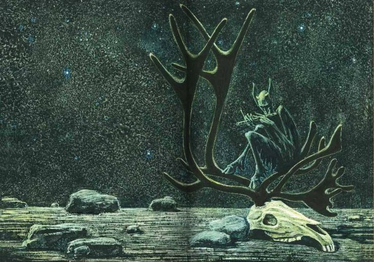 """Иллюстрации Саввы Бродского к поэме Г.Ибсена """"Пер Гюнт"""": philologist"""