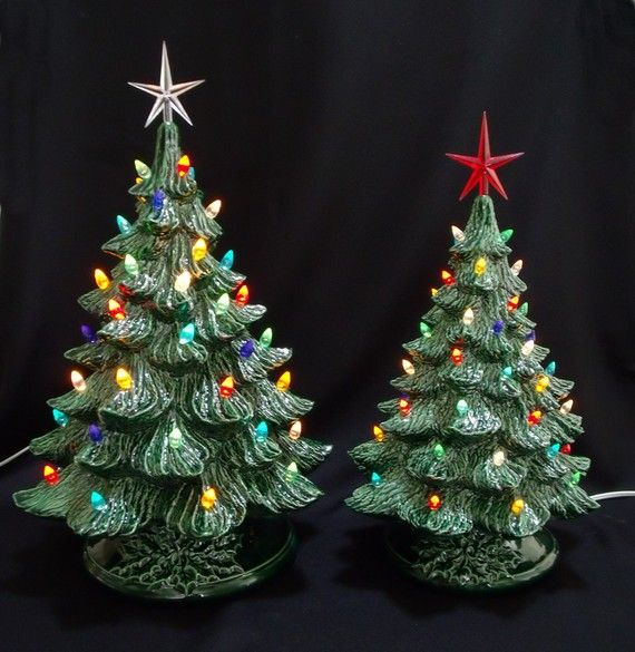 Vintage Style Ceramic Christmas Tree 16 and 19 by DarkHorseStore, $233.00