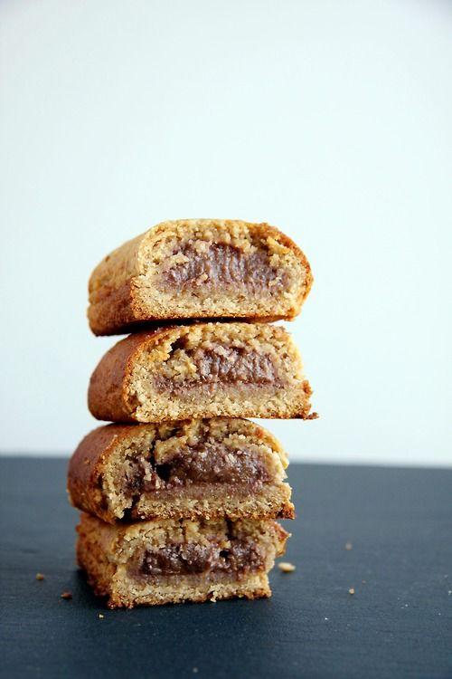 Walnut Fig Newtons (Gluten free, Vegan, Refined Sugar Free, No Oil)  - (To make vegan omit honey for a vegan alternative.)