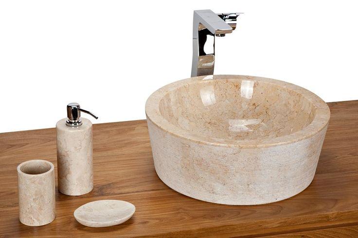 Sink Loyang Bowl Outside Alur Geret Color : Cream Size: Ø 40 cm X H. 15 cm Ø 45 cm X H. 15 cm