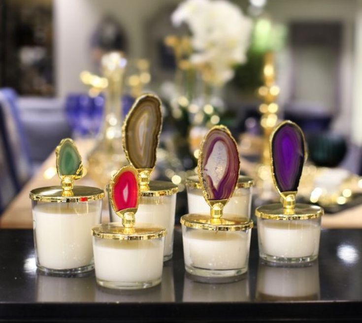 Agate Candles by grandbazaarshopping.com