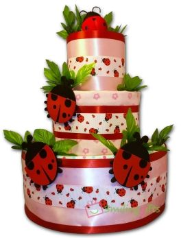 ladybug diaper cake this cute pink and red diaper cake is a perfect gift for themed baby showerslady
