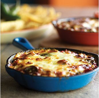 Queso Flameado Dip  Can substitute the Oaxaca with provolone or mozzarella.  We used the Kraft Four-cheese Mexican blend.