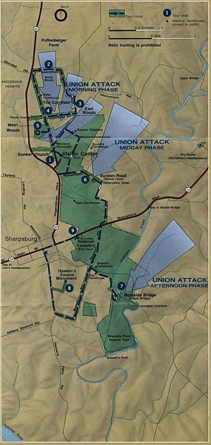 Map of Antietam September 1862 52 best