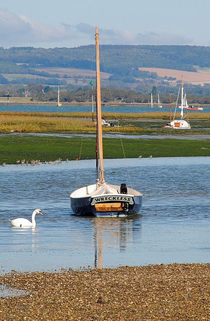 Chichester Harbour - Sussex, England from Snowhill Creek, West Wittering. A boating and birds haven.
