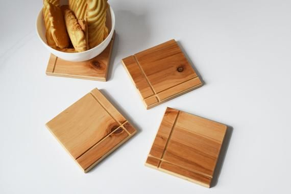 Set Of 6 Plywood Coasters Wooden Coasters Drink Coasters Etsy In 2021 Wooden Coasters Modern Wooden Furniture Coasters