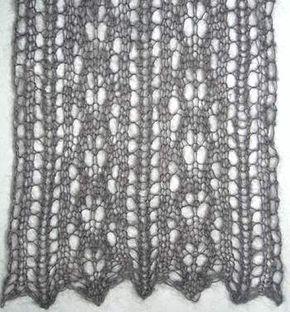 Kid Merino Mist Lace Scarf - 1 ball - free knit lace scarf pattern - Crystal Palace Yarns