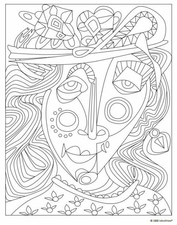 Pablo Picasso Coloring Pages Picasso Coloring Art Handouts Art
