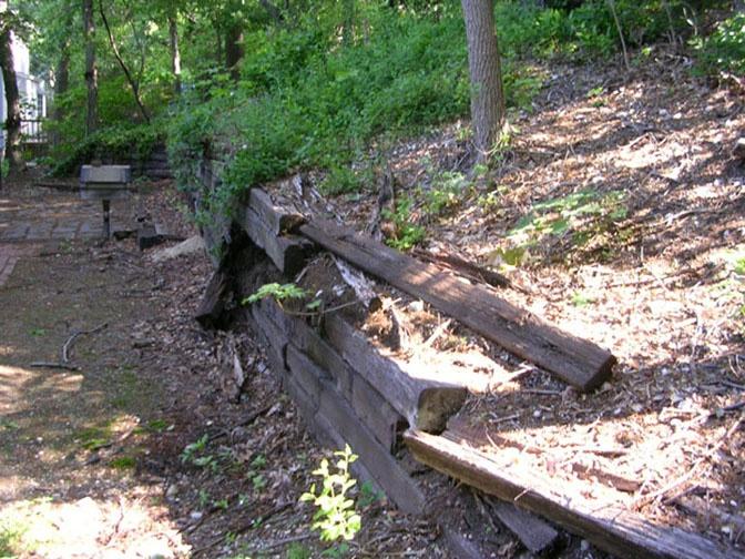 railroad tie wall garden