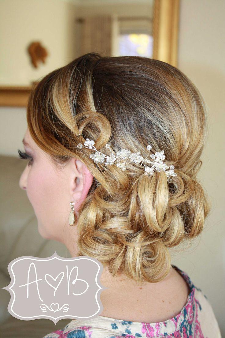 Juanita bride vintage wedding hair