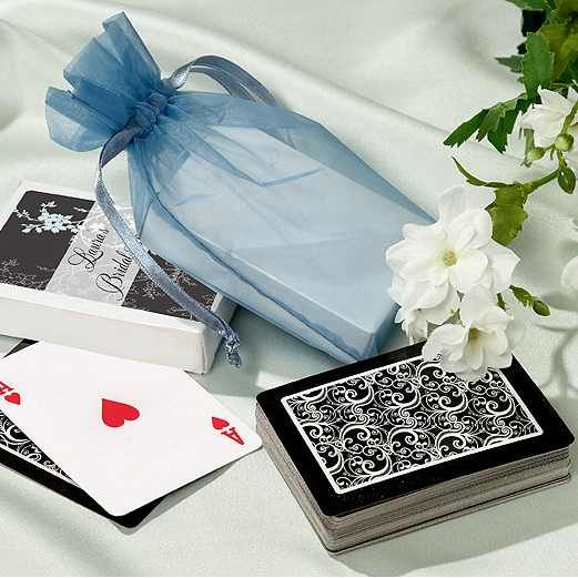 Personalized Themed Playing Cards Wedding Favors Monogrammed