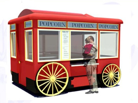 Carriage Works designs themed carts and kiosks for amusement parks all over the world.